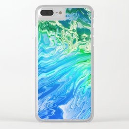 Abstract water 145 Clear iPhone Case
