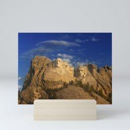 Sunrise over Mount Rushmore National Memorial. Mini Art Print