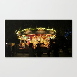 London By Night: Merry-Go-Round Canvas Print