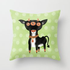 Cowter Space Throw Pillow