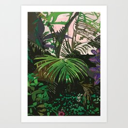 Imaginary Rainforest Art Print