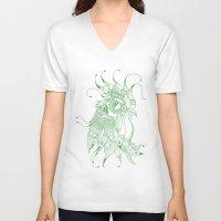 chicken V-neck T-shirts featuring CHIcKEN by Hugo Sthl