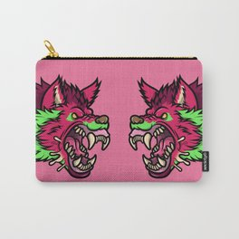Pink Punk Wolf Carry-All Pouch