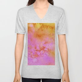 Candy Crushes Pink & Orange Unisex V-Neck