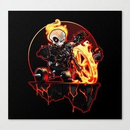 Hell on Big Wheel Canvas Print