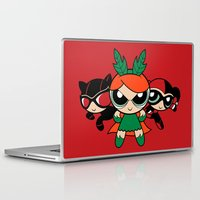 powerpuff girls Laptop & iPad Skins featuring Supervillain Girls by Mandrie