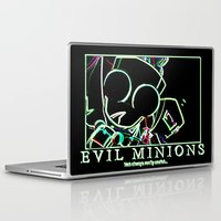 invader zim Laptop & iPad Skins featuring invader zim gir by jjb505