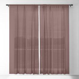 Mahogany Red, Solid Red Sheer Curtain