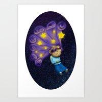 Dreaming Girl Art Print