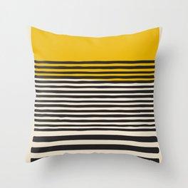 Mid Century Modern Art Print, Abstract Rainbow Arch wall art, Geometric Arch Print, yellow wall art, Throw Pillow