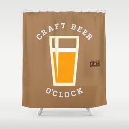 Craft Beer O'Clock Shower Curtain