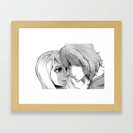 The Moment Before a Kiss Framed Art Print
