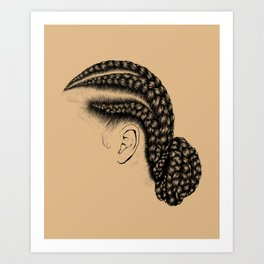 Crown: Low Braided Bun Art Print