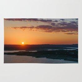 Calming warm sunset Rug
