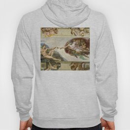 """Michelangelo """"Creation of Adam"""" Hoody"""