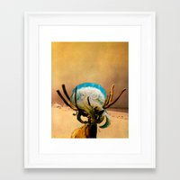 mad hatter Framed Art Prints featuring Mad Hatter by Peter Campbell