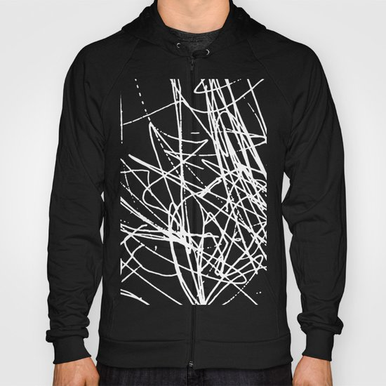 Daisy Scribble Black Hoody