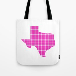 Texas State Shape: Pink Tote Bag