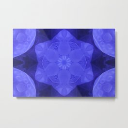 Abstract Blue Moon Star Metal Print