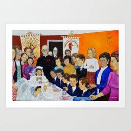 The Breakfast of the First Communion El Desayuno Juan Manuel Rocha Kinkin Art Print