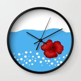 Coquelicot et ciel bis Wall Clock