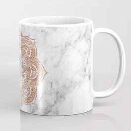 Rose gold mandala on marble Coffee Mug