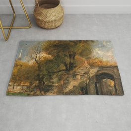 "John Constable ""Harnham Gate, Salisbury"" Rug"