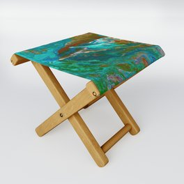 Earth by Noora Elkoussy Folding Stool