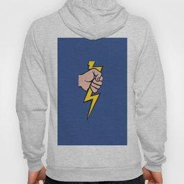 A vectorised Roy Lichtenstein, lining bolt. Hoody