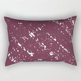 Deep Burgandy Cross-stitch Rectangular Pillow