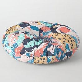 Tropical Girls with Cheetah Floor Pillow