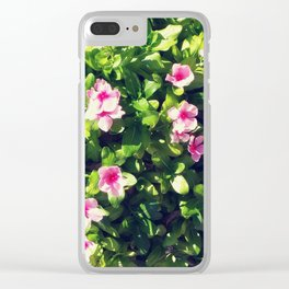 Pink flowering bush Clear iPhone Case