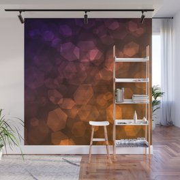 Orange blue abstract pattern . Wall Mural