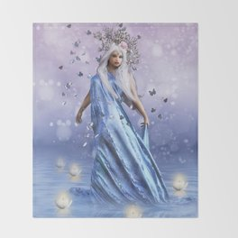 Lady Butterfly Throw Blanket