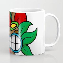 Tiki Mask - White Background Coffee Mug