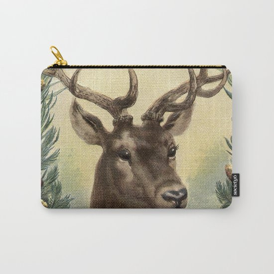 Retro Deer Carry-All Pouch