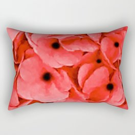 Remembrance Day | We Remember | Red Poppies | Nadia Bonello Rectangular Pillow