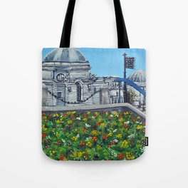 Spring at City Hall, Cardiff Tote Bag
