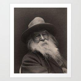 Walt Whitman- Photo By George Collins Cox Art Print