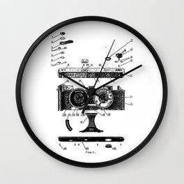 FED Stereo Camera Wall Clock