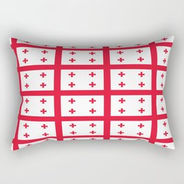 flag of georgia-Georgia,Sakartvelo, Causasus,georgeian,საქართველო ,Tbilisi,causasus,Georgian,ქართული Rectangular Pillow