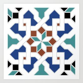 Geometric Pattern - Oriental Design Pt. 7 Art Print