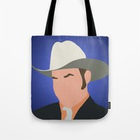 anchorman Tote Bags featuring Champ Kind - Anchorman by Tom Storrer