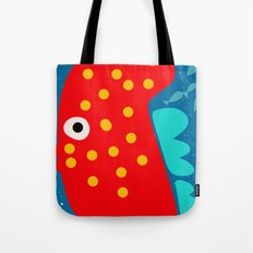 Red Fish illustration for kids Tote Bag