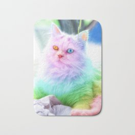 Unicorn Rainbow Cat Bath Mat