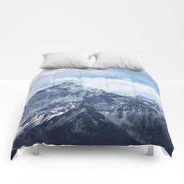 Snowy Mountain Peaks Comforters