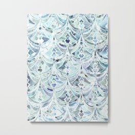 Ice and Diamonds Art Deco Pattern Metal Print