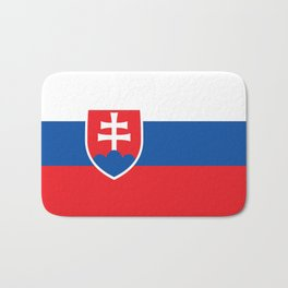 Flag of Slovakia, High Quality Image Bath Mat