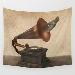 Vintage Songbird - colour option Wall Tapestry