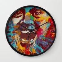 jack nicholson Wall Clocks featuring jack nicholson  by zarna